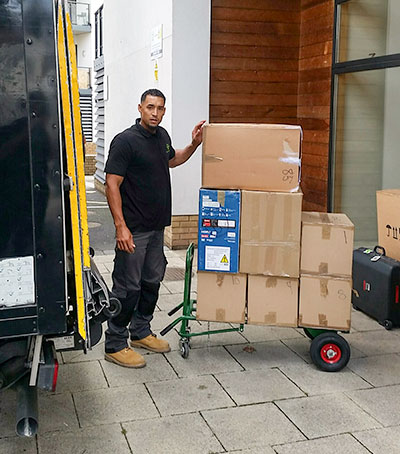 Office removals - Man, van and boxes